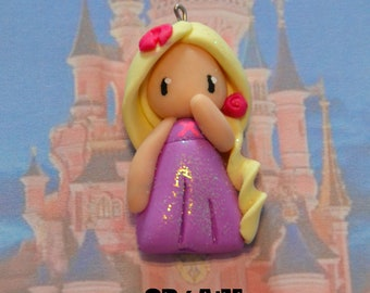 Born in polymer clay representing Rapunzel - Disney Princess Collection - handmade jewelry
