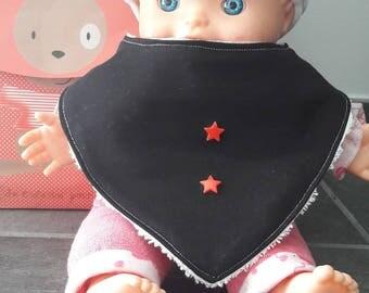 bavoir bandana, bavoir anti tache, cadeau naissance, cadeau bébé, bavoir bandana garçon, bavoir cowboy, fait main