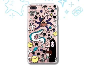 Spirited Away iPhone X Case iPhone 7 8 6 5 5S SE Case Samsung S8 S7 S6 S5 Case iPhone 8 7 6 Plus Case Samsung S7 S6 Edge Case No Face Sen
