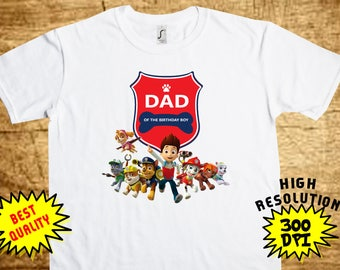 Paw Patrol Daddy, Paw Patrol Iron On Transfer, Paw Patrol Printable DIY Shirt Transfer, Digital Files, Instant Download