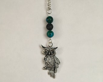 Owl Oil Diffuser Necklace