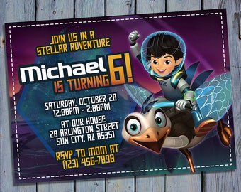 Miles From Tomorrowland Invitation, Miles From Tomorrowland Birthday, Miles Party Invites, Digital Card Invitations, Personalized Invite
