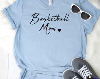 Basketball Mom Women's T Shirt UNISEX Bella Canvas Soft Style Motherhood #momlife ladies shirt mom life sports mom
