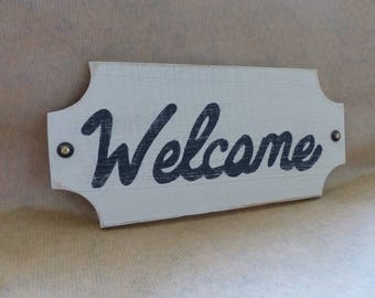 sign wood welcome