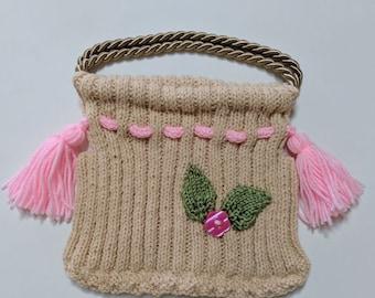 Children's Knit Handbag, Girl's Knit Handbag, Kids' Knit Handbags, Handmade, Knit Handbag, Children's Knit Purse, Girl's Knit Purse