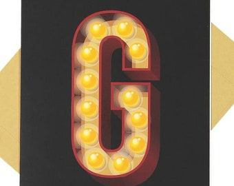 Letter 'G' - Blank Card