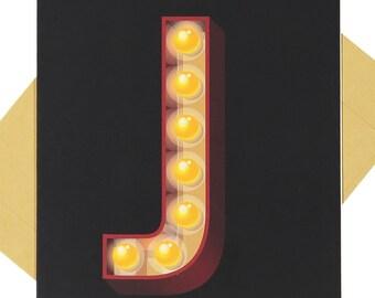 Letter 'J' - Blank Card