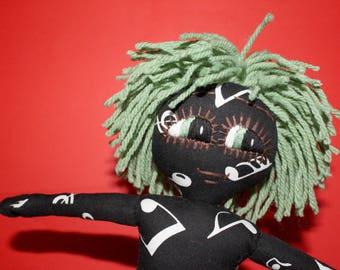 Handmade Rag Doll / OOAK / Cloth Doll / Ditsy Prints / Quirky