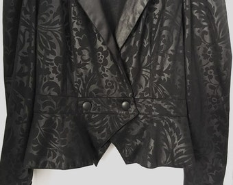 80s Beautiful Vintage Bolero Jacket Shrug Classic Vintage Women Size M Blazer