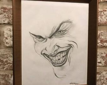 Original hand drawn joker sketch