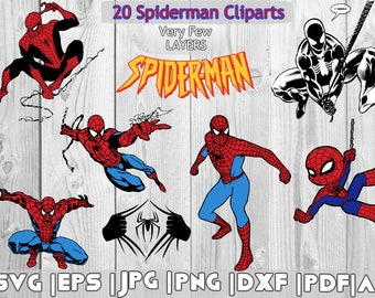 Spiderman vector etsy 20 spiderman clipart spiderman svg eps dxf jpg png pdf stopboris Image collections