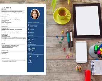 Creative Resume Modern Resume Creative CV Resume Template  Modern Resume Creative Resume Professional Resume Word CV  CV Template Stencil