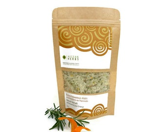 Natural sea salt * * flavoured with rosemary and orange peel