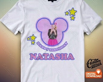 Jojo Siwa Mickey Head Iron On Transfer, Jojo Siwa Mickey Head Birthday Shirt DIY, Jojo Siwa Mickey Head Shirt Designs, Digital Files