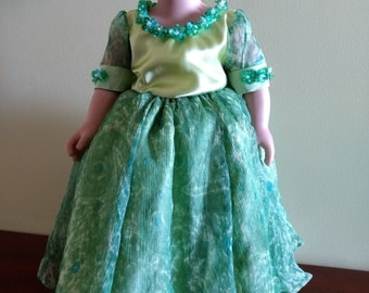 Dazzling green gown fits American Girl and 18 inch dolls last one available