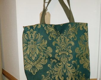 Upcycled floral print tote bag