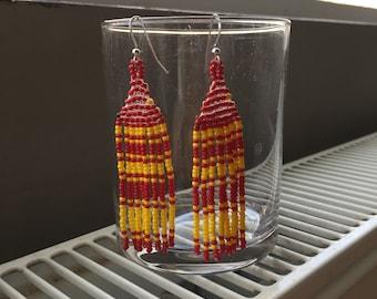 Fringe Bead Earrings