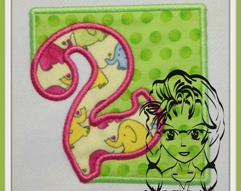 BLoCK CuT OuT Set Number Set 0-9 for MiLESTONEs Applique 4x4 & 5x7 ~ Downloadable DiGiTaL Machine Embroidery Design by Carrie