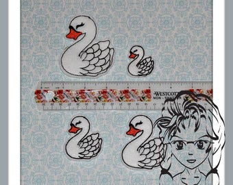 SWAN Feltie 4 sizes add on for BOWS or other designs ~ In The Hoop ~ Downloadable DiGiTaL Machine Emb Design by Carrie