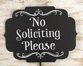 No Solicitation Sign Metal No Soliciting Please Sign Do Not Disturb No Solicitation Sign Do Not Knock Sign Don't knock Garden Pick Yard Sign