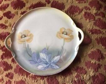 Vintage German Porcelain Handled Plate