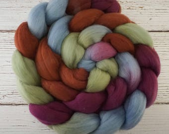 Handpainted Superfine Merino Wool Roving - 4 oz. POTTERY - Spinning Fiber