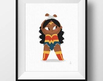 Fine Art Fan Print - Wonder Woman