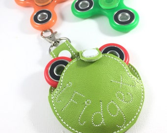 Fidget Spinner Case - clip on fidget spinner holder - carrying case - clip on keys backpack- custom designs - personalized- pouch