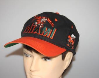 Miami Hurricanes Snapback Cap Vintage 1990s