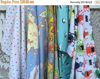 CRAZY SALE- Reclaimed Pillowcase Fabric-Playful-Childhood-Fun
