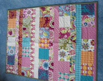 Quilt,Throw, Mini Quilt, Multi Color,Handcrafted/Quilted