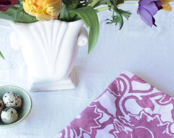 mauve cotton tea towel