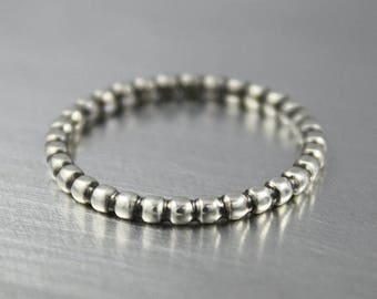 ON SALE TODAY Sterling Silver Stacking Ring with Ball Design