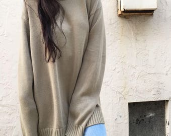 Vintage 90s simple tan knit