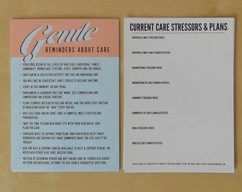 One Dozen Gentle Reminders About Care Postcards