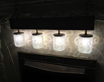 Etched Jar Chandelier