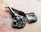 Ornate Antique Keys - Hinged Key // Summer SALE - Save 15% - Coupon Code SUMMER15