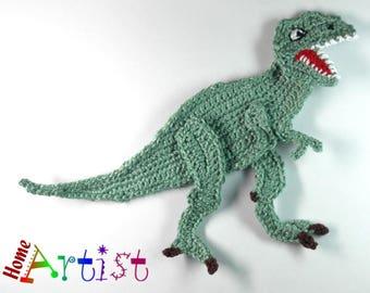 Crochet Applique T-rex Dinosaur