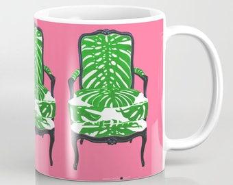 TROPICS CHAIR on PINK Mug