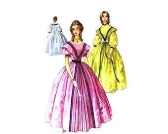SALE 1960s McCalls 2403 Centennial Southern Belle Gown Pantalets Costume Vintage Sewing Pattern Size 10 - 12 UNCUT