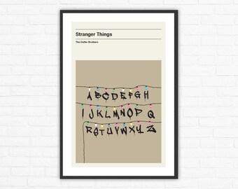 Stranger Things Lights, Minimalist TV Poster