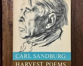 Carl Sandburg midcentury poetry book harvest poems