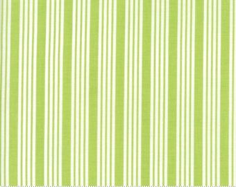 The Good Life - Stripe in Green: sku 55157-14 cotton quilting fabric by Bonnie and Camille for Moda Fabrics