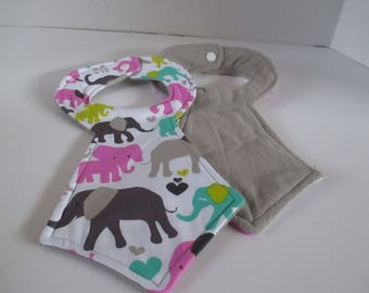 Elephant baby tie bib, little boys ties bib, babies, baby bib, baby accessory, baby shower, newborns, drooling, spit up, feeding, toddlers