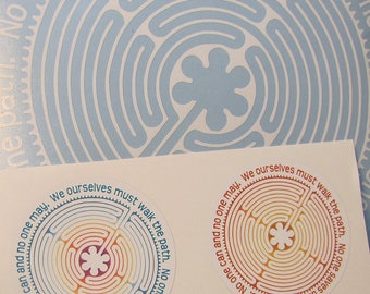 Labyrinth Decal and Stickers - We Ourselves Must Walk the Path