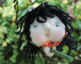 Sophie the Kitchen Witch - Kitchen Witch Doll - Herb Witch - Green Witch - Good luck doll for your kitchen!