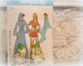 vintage simplicity caftan pattern simplicity 7194 sewing pattern maxi caftan tunic and pants