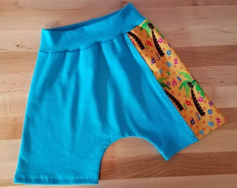 ABC coconut tree harem shorts! Toddler 2T.  Boy or girl!! Handmade with custom fabrics!