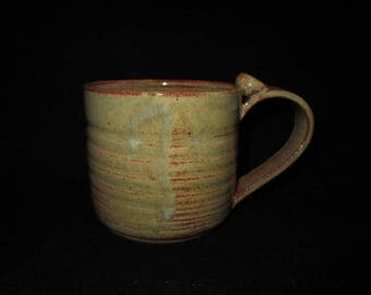 mugs in earthy tones, stoneware pottery, dishwasher safe