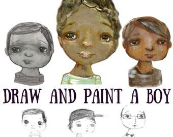 Draw and Paint a Boy - online class